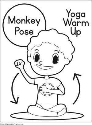 Image of Yoga Warm Up Coloring Pages
