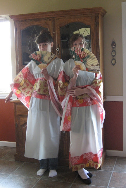 Kimono Costume From A Tablecloth