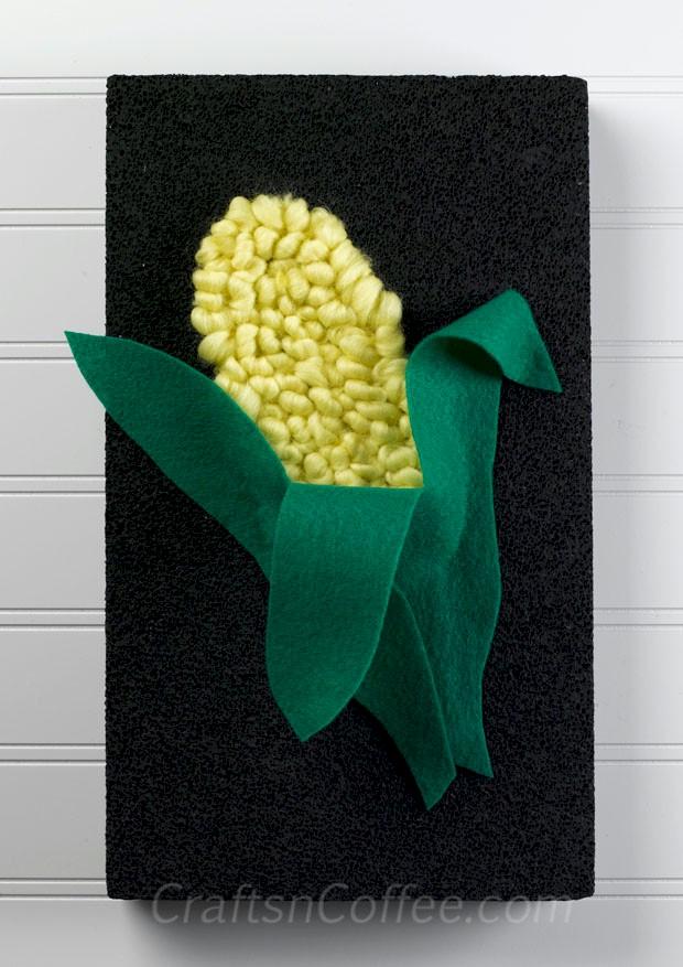 DIY Kwanzaa Yarn and Felt Corn Craft for kids