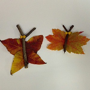 Make Butterflies From Leaves