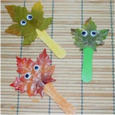 Leaf Stick Kids Craft