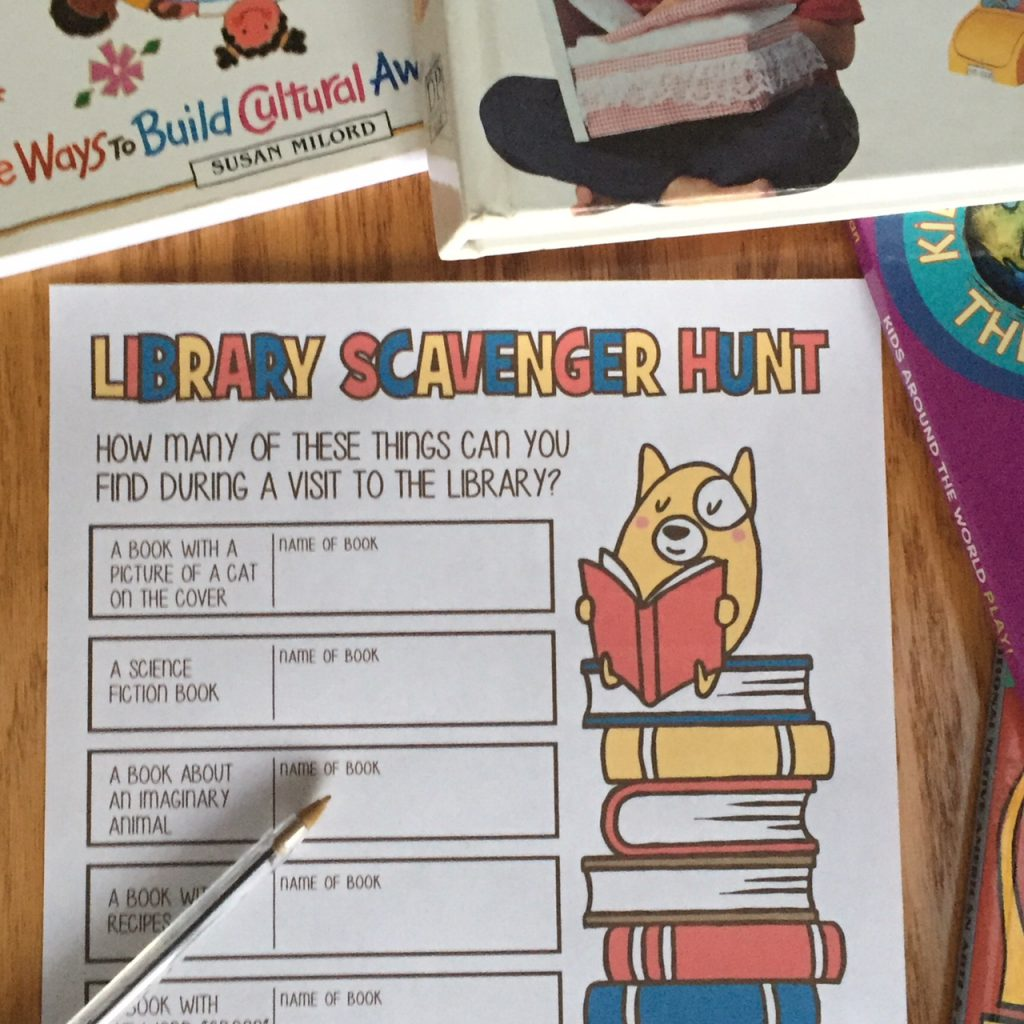 Image of Printable Library Scavenger Hunt