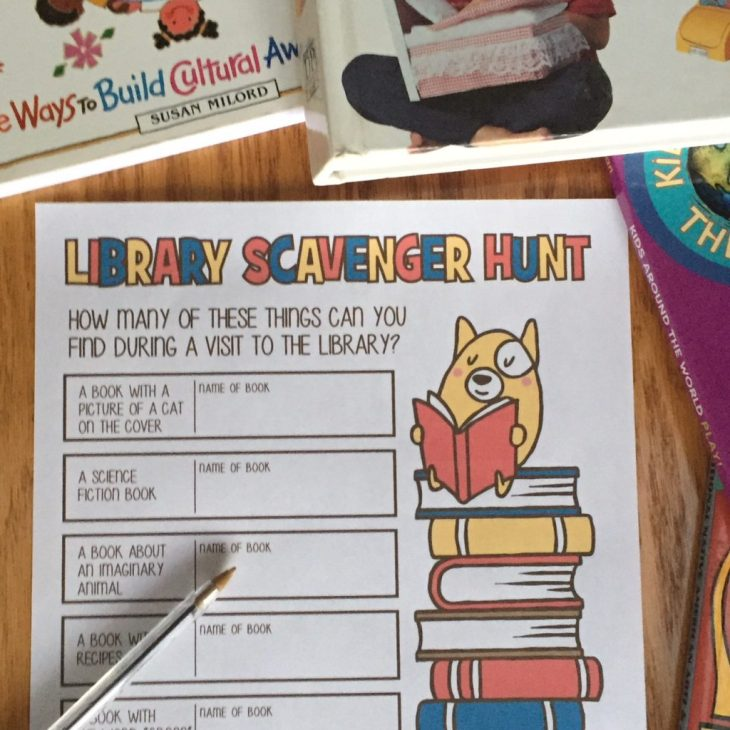 Printable Library Scavenger Hunt