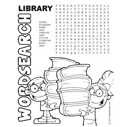 Image of Printable Library Word Search