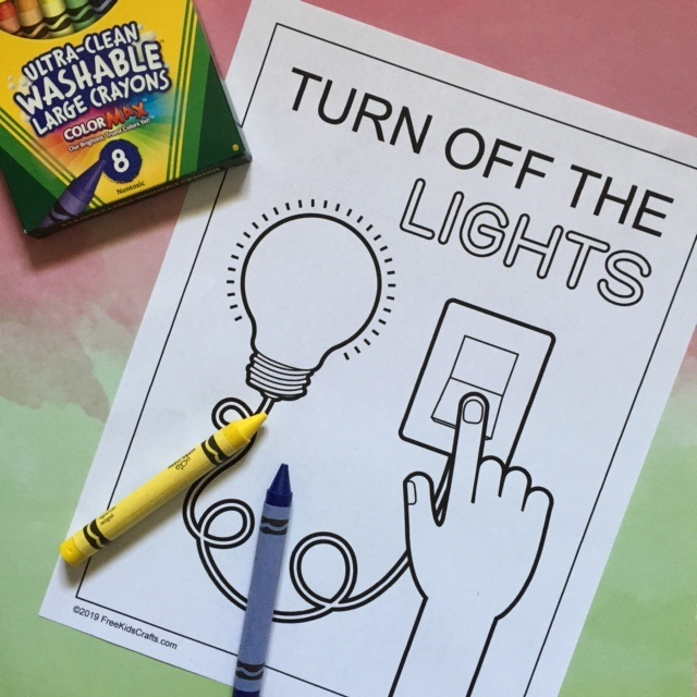 Lights Off Coloring Page