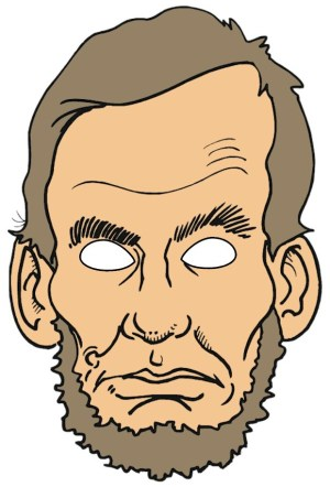 Image of Abraham Lincoln Puppet Mask