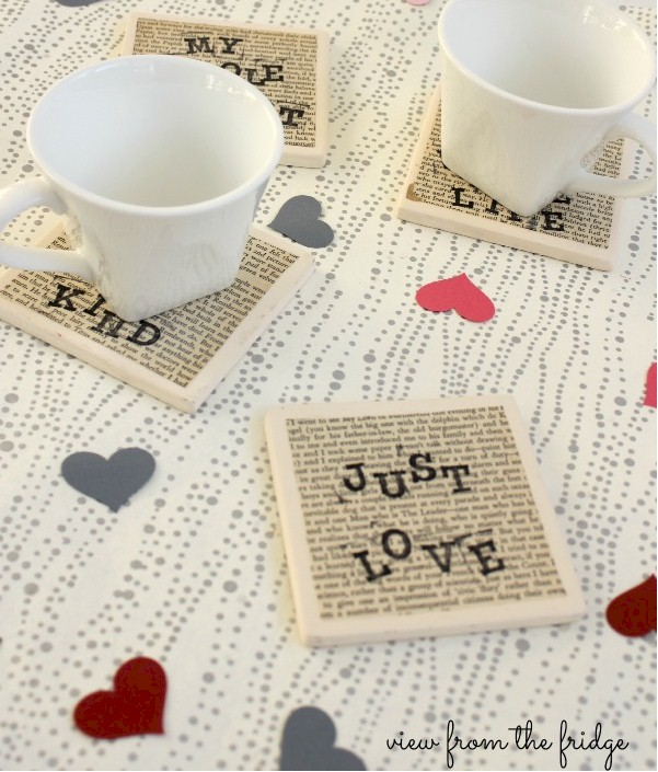 Love Coasters For Valentine's Day