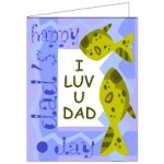 Image of Silhouette Dads Day Card and Poem