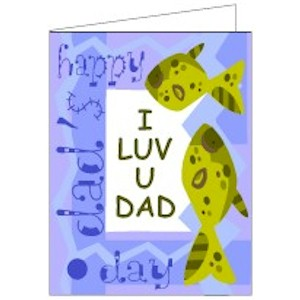 Luv You Dad Printable Card