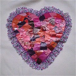 Recycled Magazine Mosaic Heart