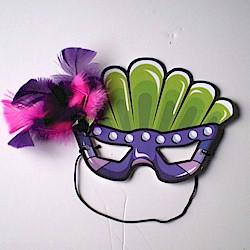 Image of Printable Mardi Gras Mask