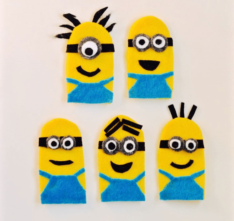 Image of How To Make Minion Finger Puppets