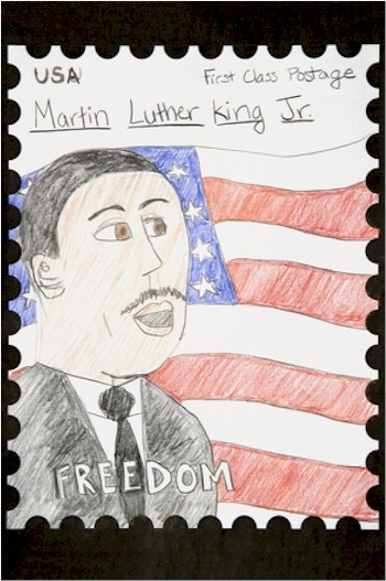 Image of Make A Commemorative MLK Stamp