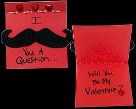 Image of Mustache Valentine Card