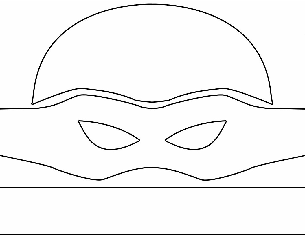 Impeccable image for ninja turtle mask printable