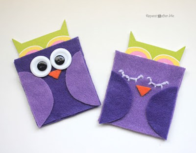 Image of Felt Owl Gift Card Holder