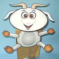 Image of Paper Bag Goat Puppet