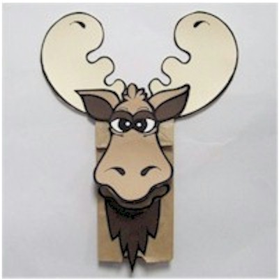 Paper Bag Moose Puppet