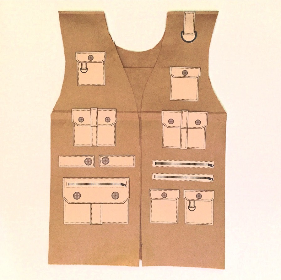 Image of Paper Bag Safari Vest