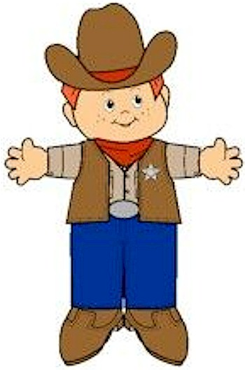 Image of Playtime Cowboy Paper Doll