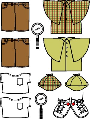 Image of Playtime Detective Paper Doll