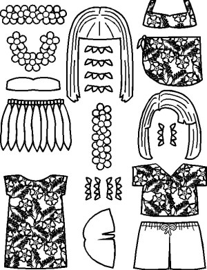 Image of Playtime Pacific Islands Paper Doll