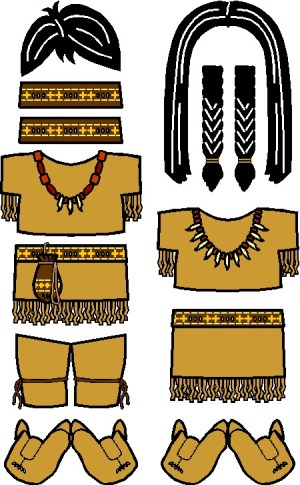 Image of Playtime Native American Paper Doll