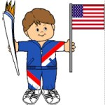 Free Printable Olympic Torch Barer Paper Doll
