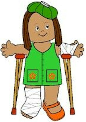 Image of Playtime Injured Paper Doll