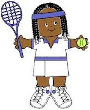 Image of Playtime Tennis Paper Doll