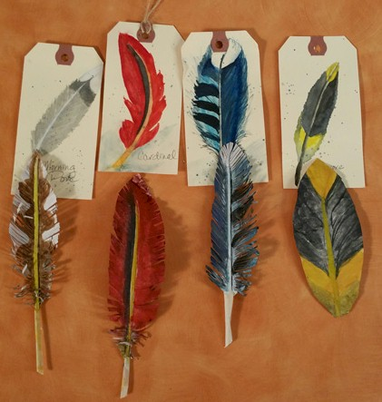 make your own paper feathers