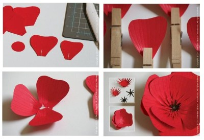 Image of Paper Flower Gift Box Decoration