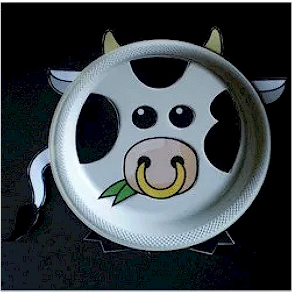 Image of Paper Plate Bull