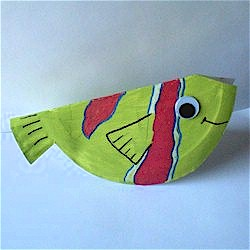 Folded Paper Plate Fish