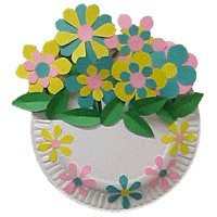 Paper Plate Flower Basket
