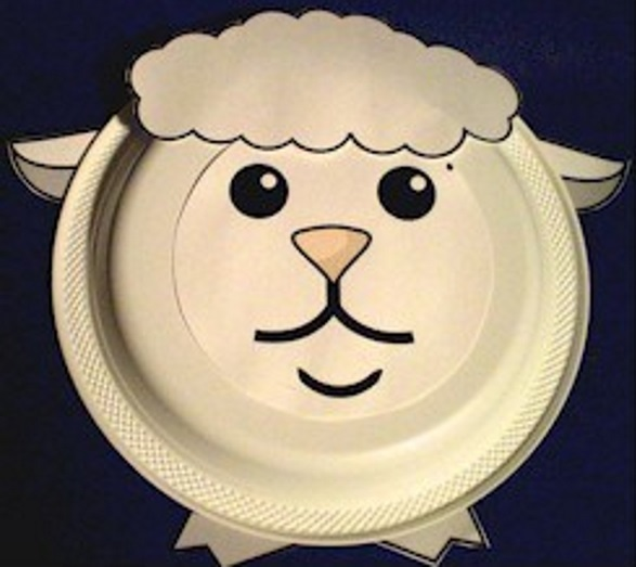 Easy Paper Plate Lamb for Children to Make.