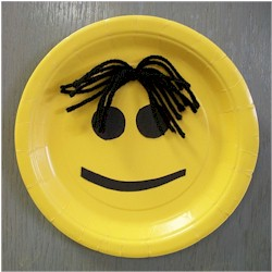Easy Paper Plate Smiley Face