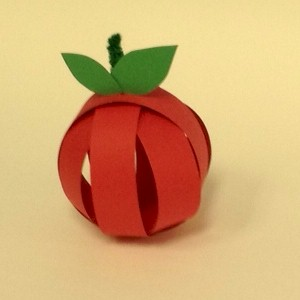 Paper Strip Apple Craft