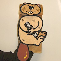 Beaver Paper Bag Puppet