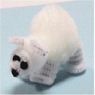 Image of Pom Pom Polar Bear Craft