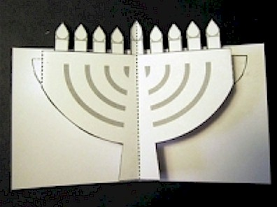 Chanukah Menorah Pop Up You Can Make