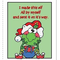 Image of Printable Elf Thank You Card