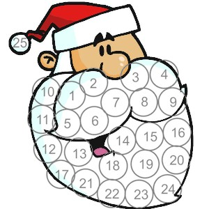 Image of Printable Santa Advent Calendar