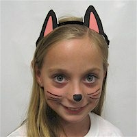 Printable Black Cat Ears