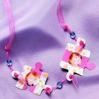 Puzzle Piece Photo Necklace