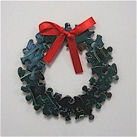 Image of Puzzle Piece Wreath