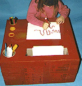Image of How To Make A Recycled Cardboard Box Desk