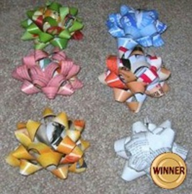 Recycled Magazine Bows