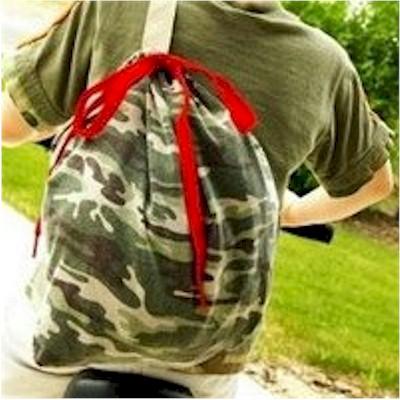 DIY Upcycled Tee Shirt Backpack