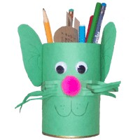 Image of Recycled Kitty Pencil Holder